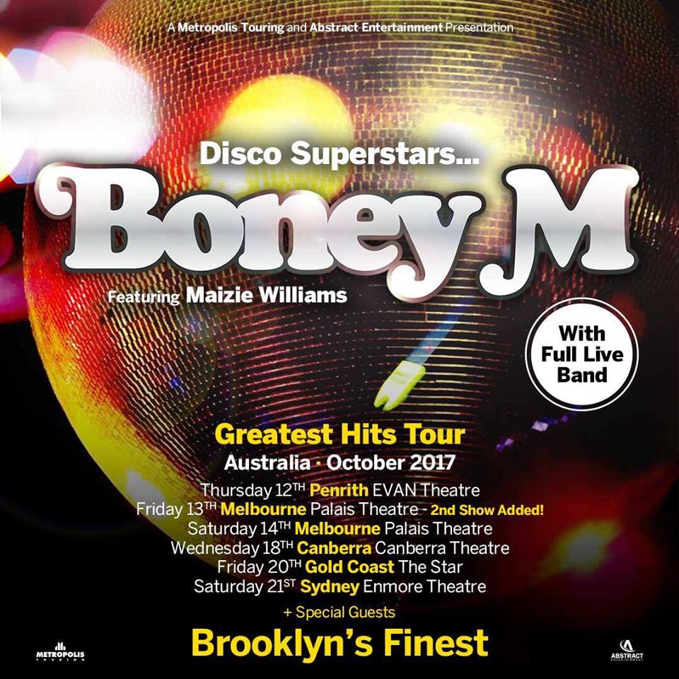 Brooklyn's Finest Support Boney M Australian Tour