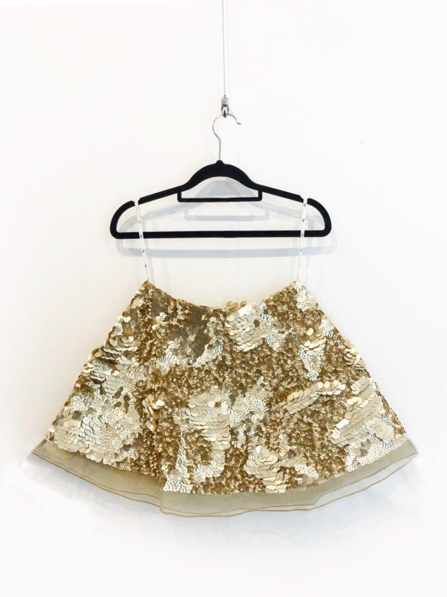 Aje Gold Sequin Skirt Brooklyn + Stellar Designer + Vintage Fashion Hire Melbourne
