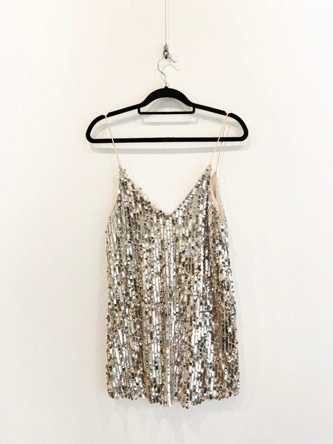 Silver Sequin Mini DressBrooklyn + Stellar Designer + Vintage Fashion Hire Melbourne