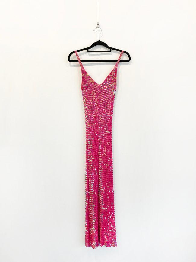 Free People Pink Sequin Dress Brooklyn + Stellar Designer + Vintage Fashion Hire Melbourne