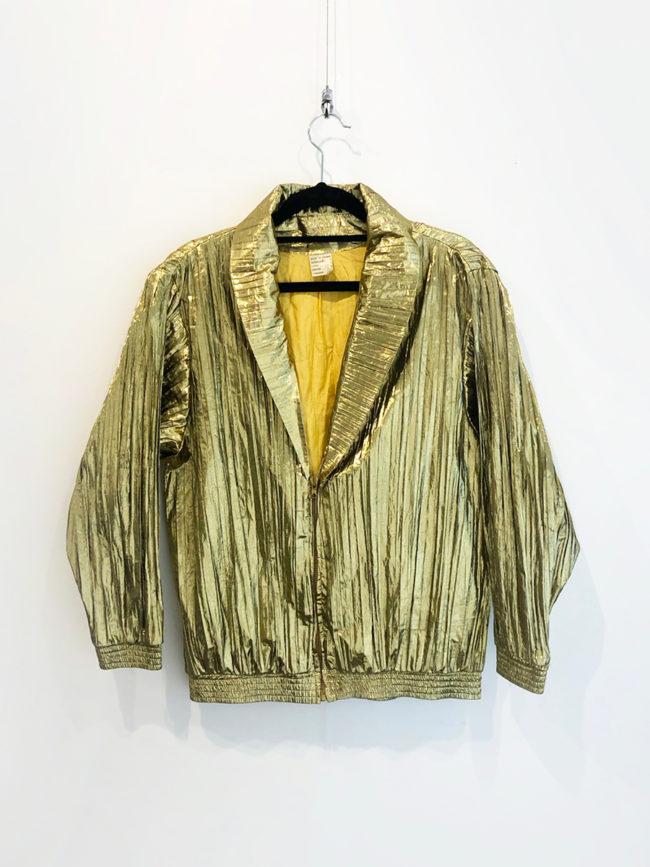 Vintage French Metallic Gold Crepe Jacket Brooklyn + Stellar Designer + Vintage Fashion Hire Melbourne