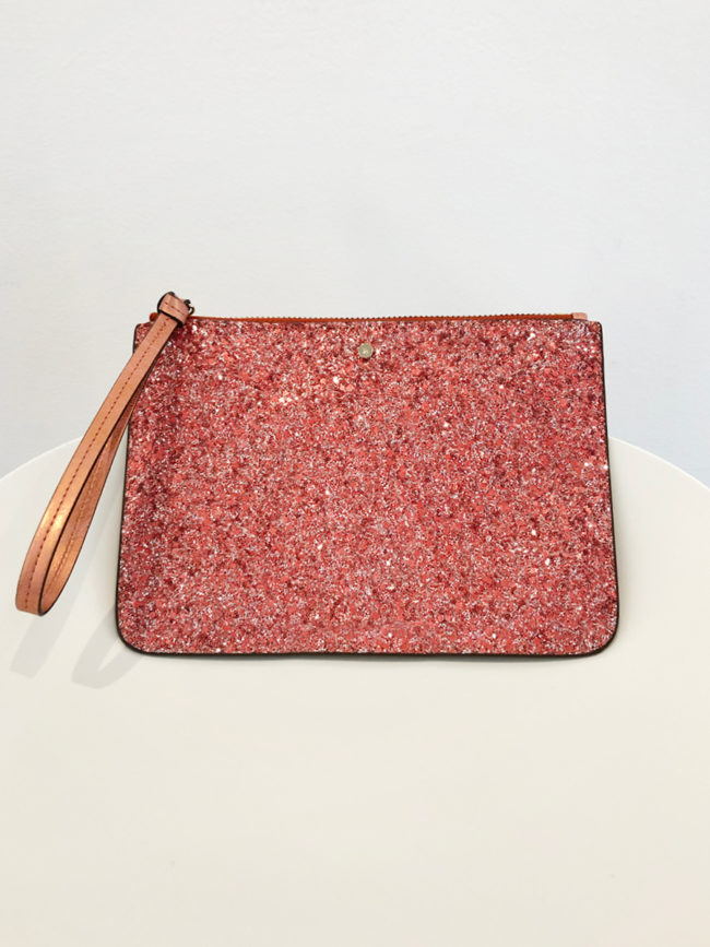 Mimco Pink Glitter Clutch Brooklyn + Stellar Designer + Vintage Fashion Hire Melbourne
