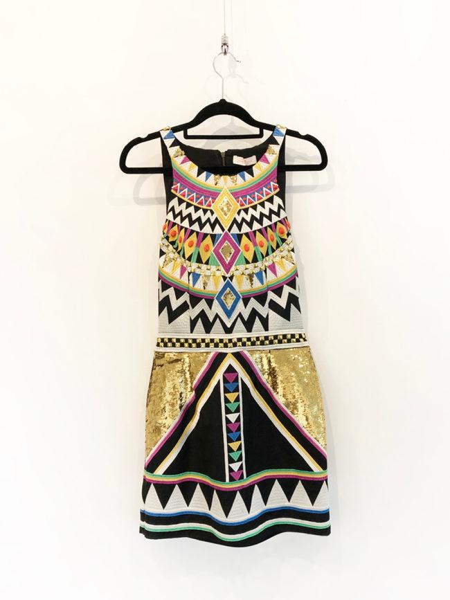 Sass & Bide Aztec Sequin Dress Brooklyn + Stellar Designer + Vintage Fashion Hire Melbourne