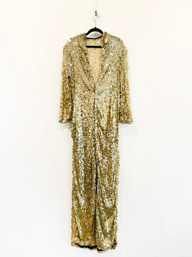 Tight Tigers Gold Sequin Hooded Cape Brooklyn + Stellar Designer + Vintage Fashion Hire Melbourne