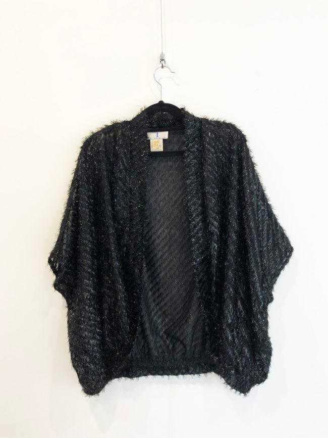 Vintage Black Glitter Shrug Brooklyn + Stellar Designer + Vintage Fashion Hire Melbourne