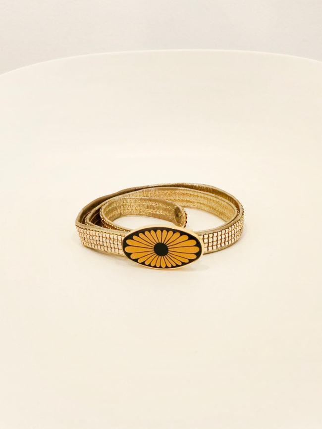 Vintage Gold Flower Belt Brooklyn + Stellar Designer + Vintage Fashion Hire Melbourne