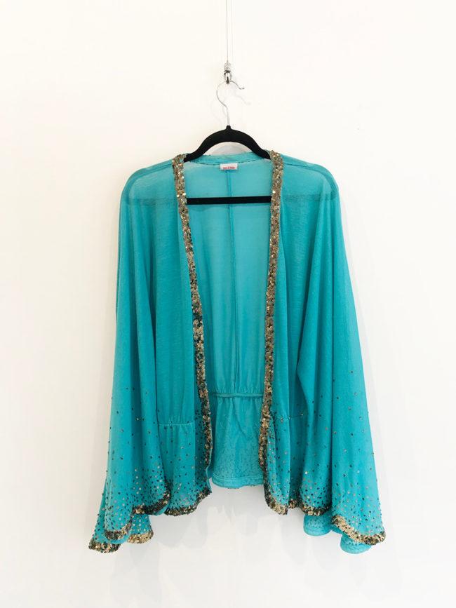 Vintage Sass & Bide Blue Flared Sleeve Jacket Brooklyn + Stellar Designer + Vintage Fashion Hire Melbourne