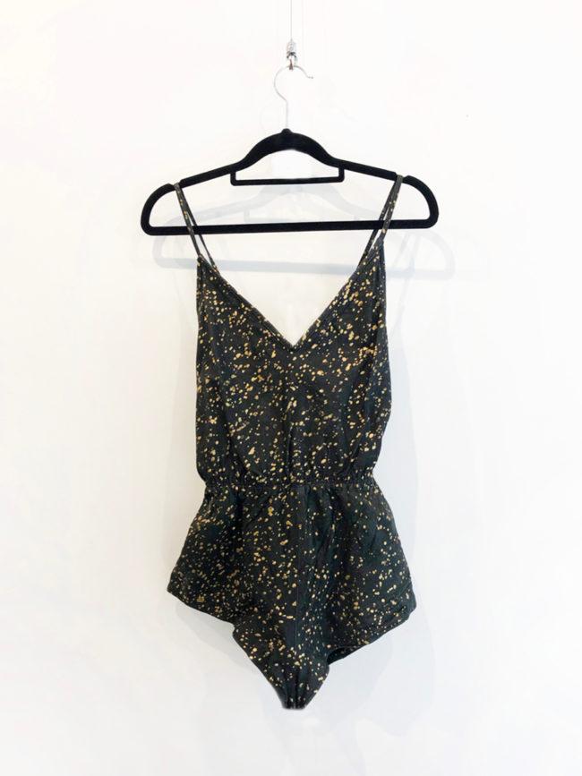 Vintage Stephen Dattner Melbourne Black & Gold Leather Bodysuit Brooklyn + Stellar Designer + Vintage Fashion Hire Melbourne